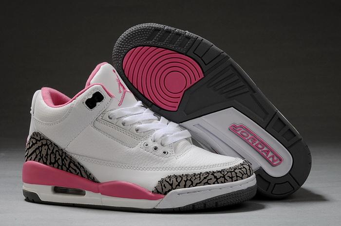 air jordan pour femme noir et rose